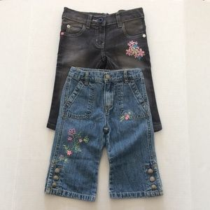 Toddler 3T Girl's Embroidered Jeans